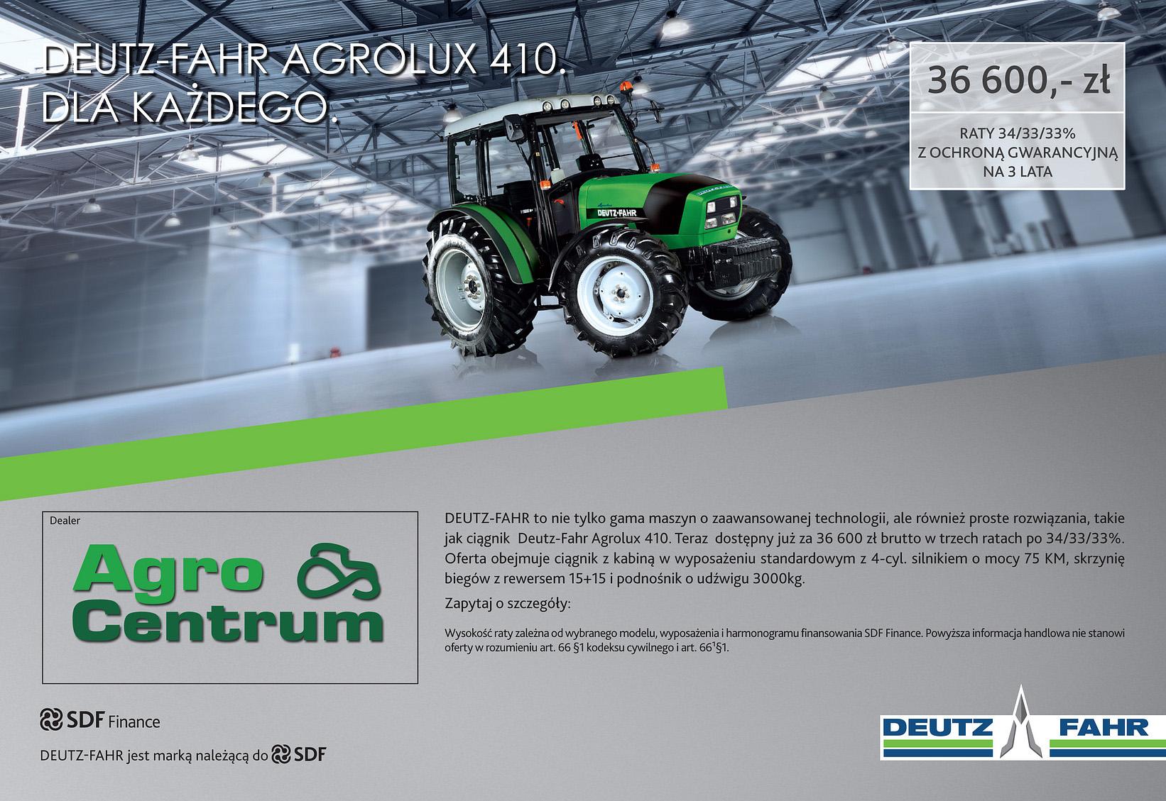 AGROLUX 410 DLA KAZDEGO